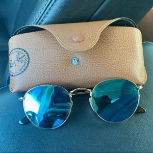 Round Ray Bans (blue)